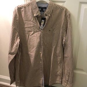 Tommy Hilfiger checkered long sleeve button up